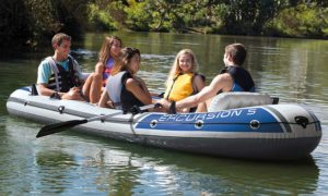intex excursion 5 person inflatable boat